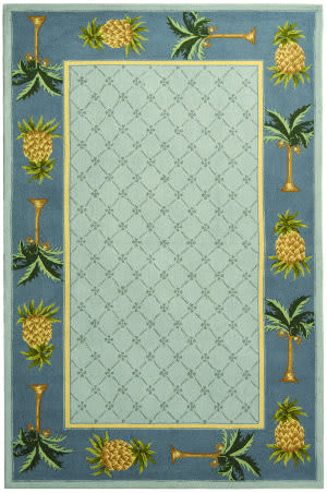 Safavieh Chelsea HK362D Light Blue / Blue Area Rug