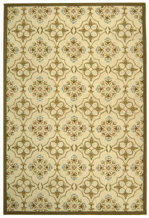 Safavieh Chelsea Hk376a Ivory / Green Area Rug