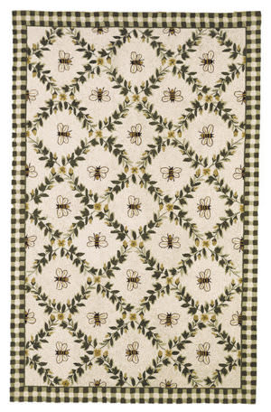 Safavieh Chelsea HK55A Ivory / Green Area Rug