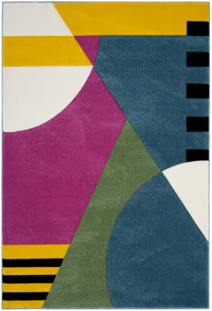 Safavieh Hollywood Hlw706c Peacock Blue - Fuchsia Area Rug