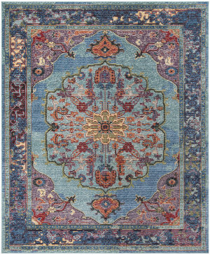 Safavieh Harmony Hmy402a Blue - Purple Area Rug