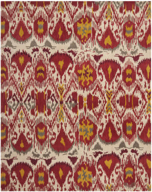 Safavieh Ikat IKT226A Ivory / Red Area Rug