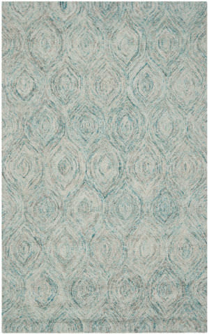 Safavieh Ikat Ikt631a Ivory - Sea Blue Area Rug