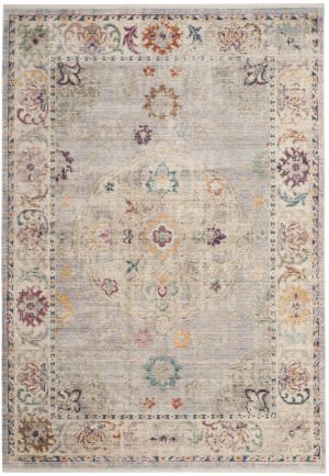 Safavieh Illusion Ill708l Light Grey - Cream Area Rug