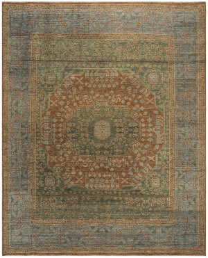 Safavieh Izmir Izm154p Rust - Light Blue Area Rug