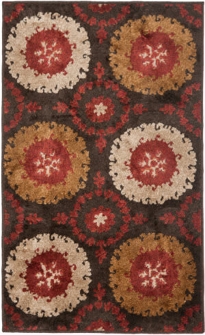Safavieh Kashmir Kas111a Brown / Red Area Rug