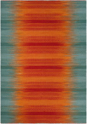 Safavieh Kilim Klm821a Teal - Red Area Rug
