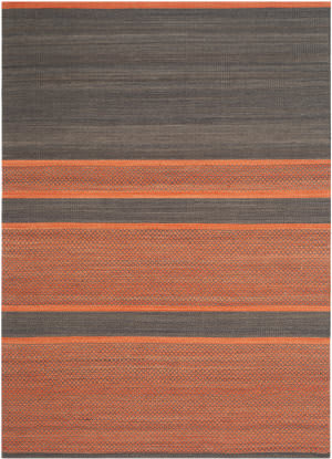Safavieh Kilim Klm952c Dark Grey / Orange Area Rug