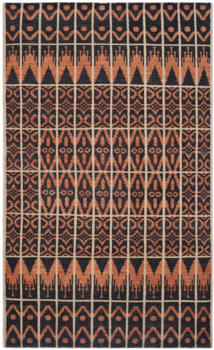 Safavieh Kenya Kny609a Orange / Black Area Rug