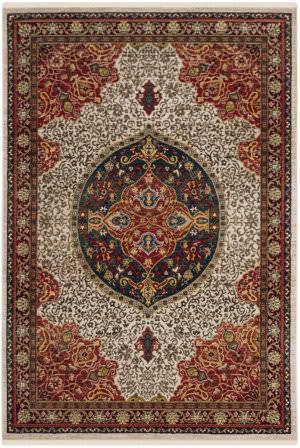 Safavieh Kashan Ksn302d Ivory - Red Area Rug