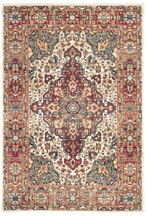 Safavieh Kashan Ksn305b Ivory - Blue Area Rug