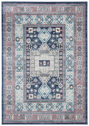 Safavieh Kazak Kzk122b Blue - Creme Area Rug