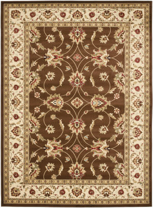 Safavieh Lyndhurst Lnh553 Brown / Ivory Area Rug