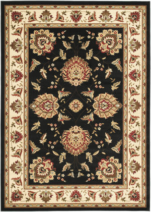 Safavieh Lyndhurst Lnh555 Black / Ivory Area Rug