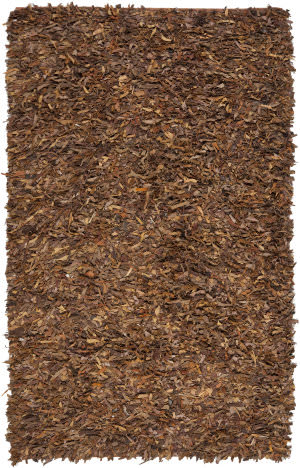 Safavieh Leather Shag Lsg511b Saddle Area Rug