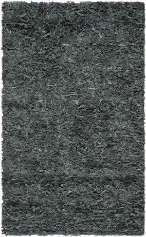 Safavieh Leather Shag Lsg511n Grey Area Rug