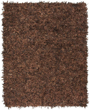 Safavieh Leather Shag Lsg601b Saddle Area Rug
