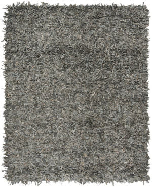 Safavieh Leather Shag Lsg601g Grey - Beige Area Rug