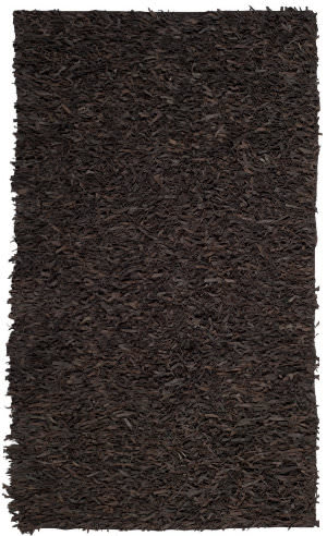 Safavieh Leather Shag Lsg601k Dark Brown Area Rug
