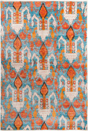 Safavieh Luxor Lux162a Aqua - Orange Area Rug