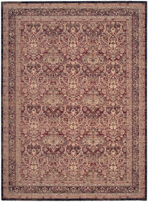 Safavieh Lavar Kerman Lvk618d Red - Navy Area Rug