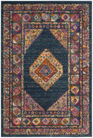 Safavieh Madison Mad133c Blue - Fuchsia Area Rug