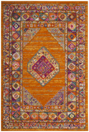 Safavieh Madison Mad133d Orange - Fuchsia Area Rug