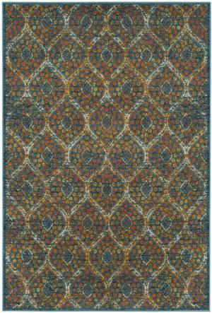 Safavieh Madison Mad140a Blue - Orange Area Rug