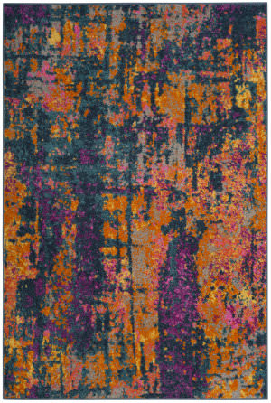 Safavieh Madison Mad143a Blue - Orange Area Rug