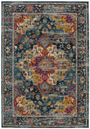 Safavieh Madison Mad154l Teal - Fuchsia Area Rug