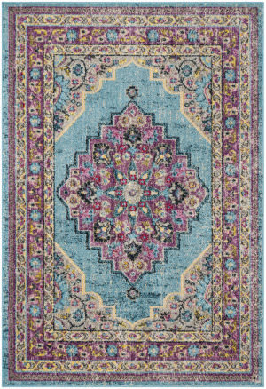 Safavieh Madison Mad302j Aqua - Purple Area Rug