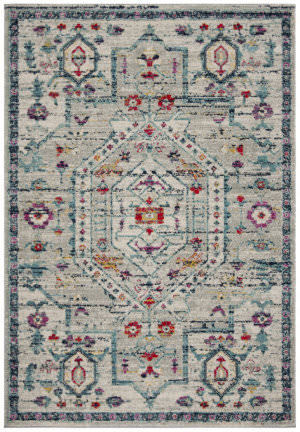 Safavieh Madison Mad928r Light Grey - Fuchsia Area Rug