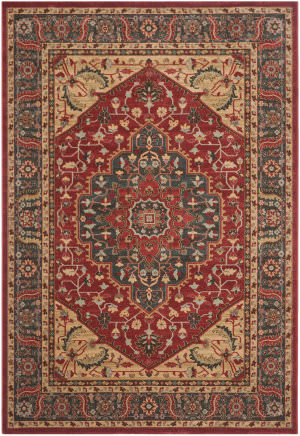 Safavieh Mahal Mah621c Navy - Red Area Rug
