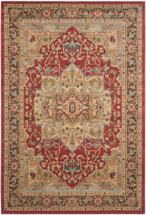 Safavieh Mahal Mah625b Natural - Navy Area Rug