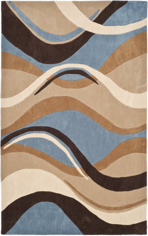Brown And Blue At Rug Studio
