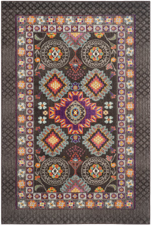 Safavieh Monaco Mnc240b Brown - Multi Area Rug
