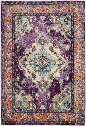 Safavieh Monaco Mnc243l Violet - Light Blue Area Rug