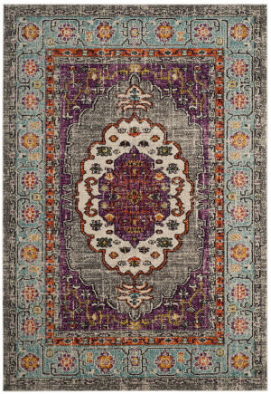 Safavieh Monaco Mnc246l Violet - Light Blue Area Rug