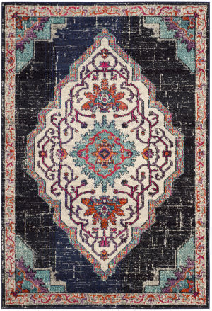Safavieh Monaco Mnc254z Black - Blue Area Rug