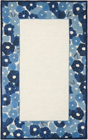 Martha Stewart By Safavieh Msr3629 Poppy Border A Area Rug