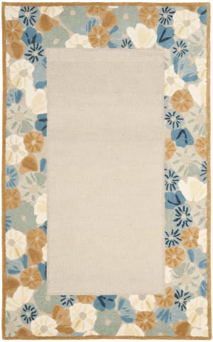 Martha Stewart By Safavieh Msr3629 Poppy Border B Area Rug