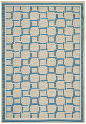 Safavieh Martha Stewart Msr4258 Cream - Blue Area Rug
