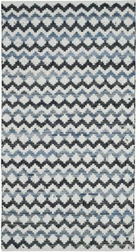 Safavieh Montauk Mtk120a Ivory Blue - Black Area Rug