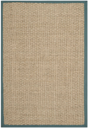 Safavieh Natural Fiber Nf114m Natural / Light Blue Area Rug