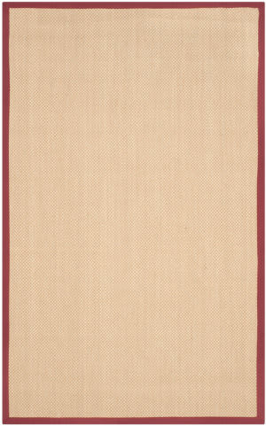 Safavieh Natural Fiber Nf141d Maize - Burgundy Area Rug