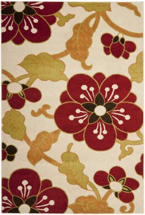 Safavieh Newbury Nwb8702 Ivory / Red Area Rug
