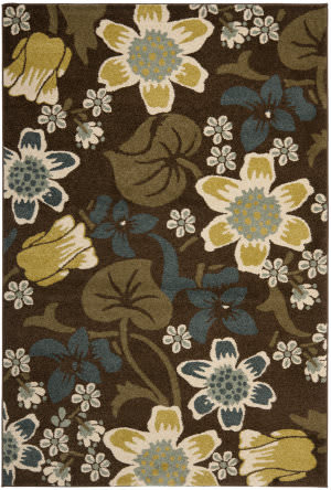 Safavieh Newbury Nwb8706 Brown / Mustard Area Rug