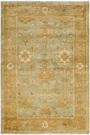 Safavieh Oushak OSH115C Dark Green / Brown Area Rug