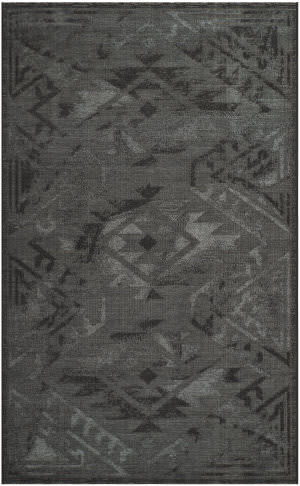 Safavieh Palazzo Pal122 Black - Grey Area Rug