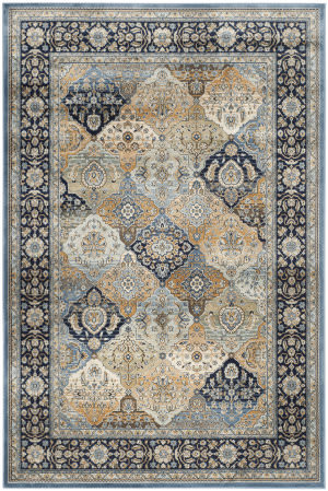 Safavieh Persian Garden Peg609n Multi - Navy Area Rug